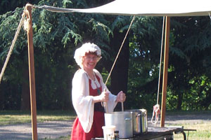 Cooking soup for picnic dinner at Peasant's Revel. Photo: Melinda Jodry