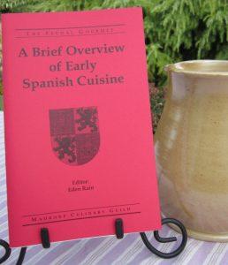 Spanish cuisine pamphlet